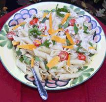 Holiday cream pesto pasta