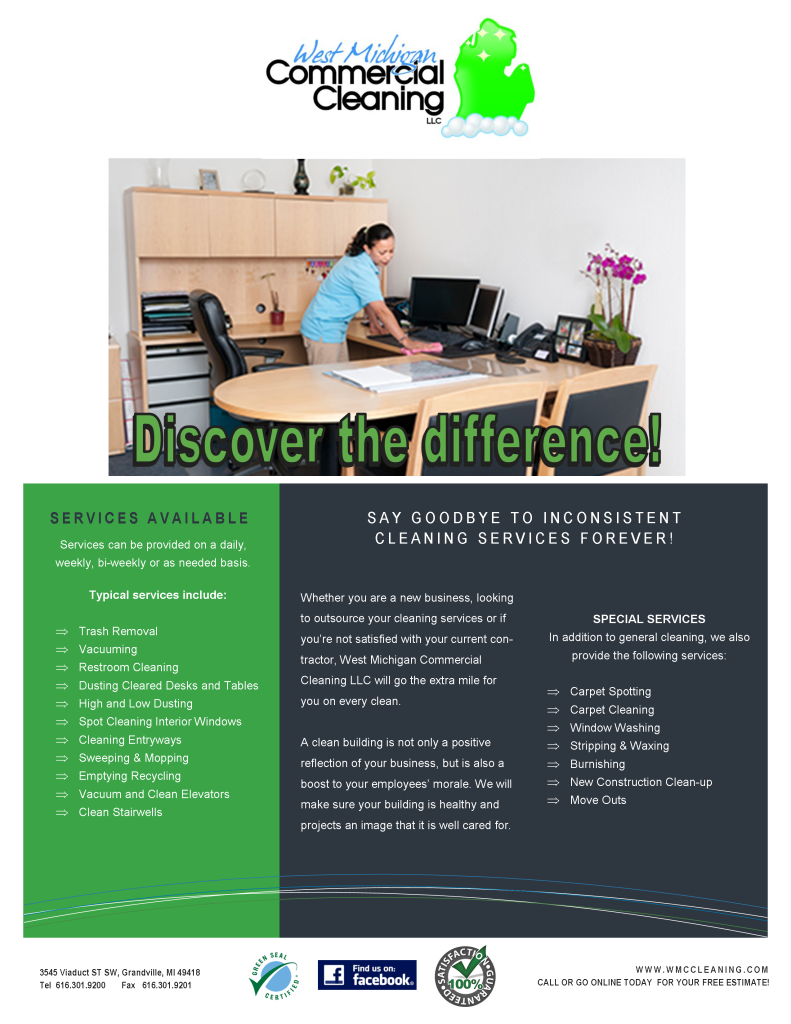 promotions west michigan commercial cleaning